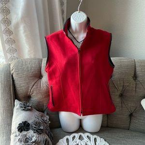 Cirrus Cashmere 100% Cashmere ZIP Up Vest Large